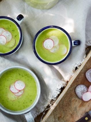 Lettuce soup (Photo by Luke Albert)