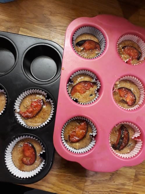 plum kefir cakes